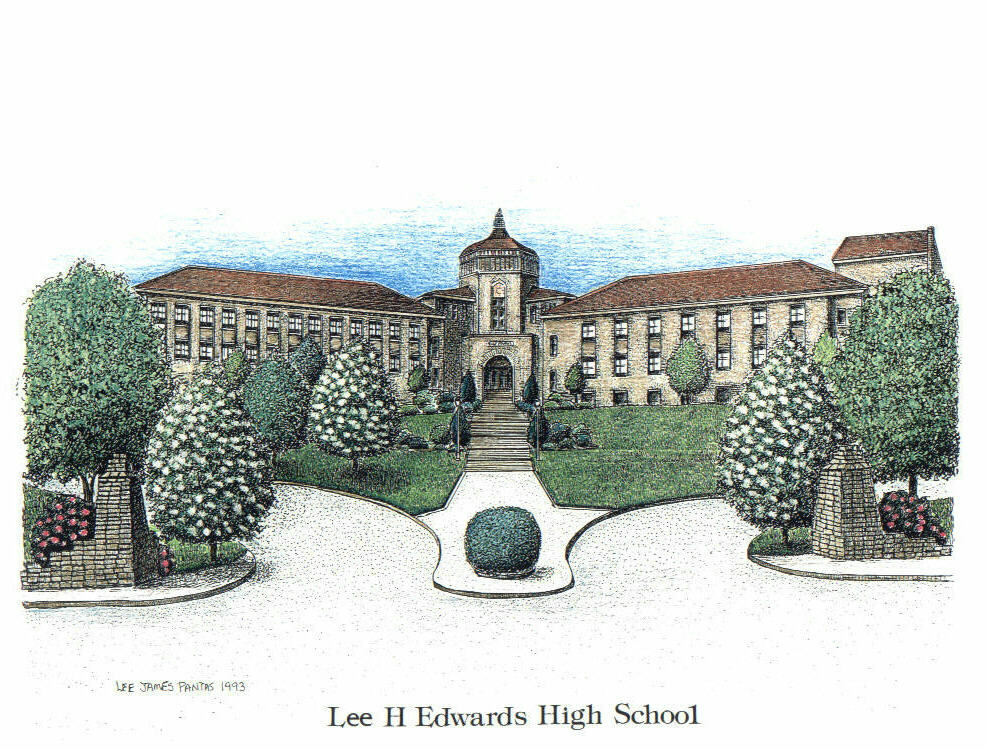 Lee Edwards High School (now Asheville High School),Asheville NC, By Lee