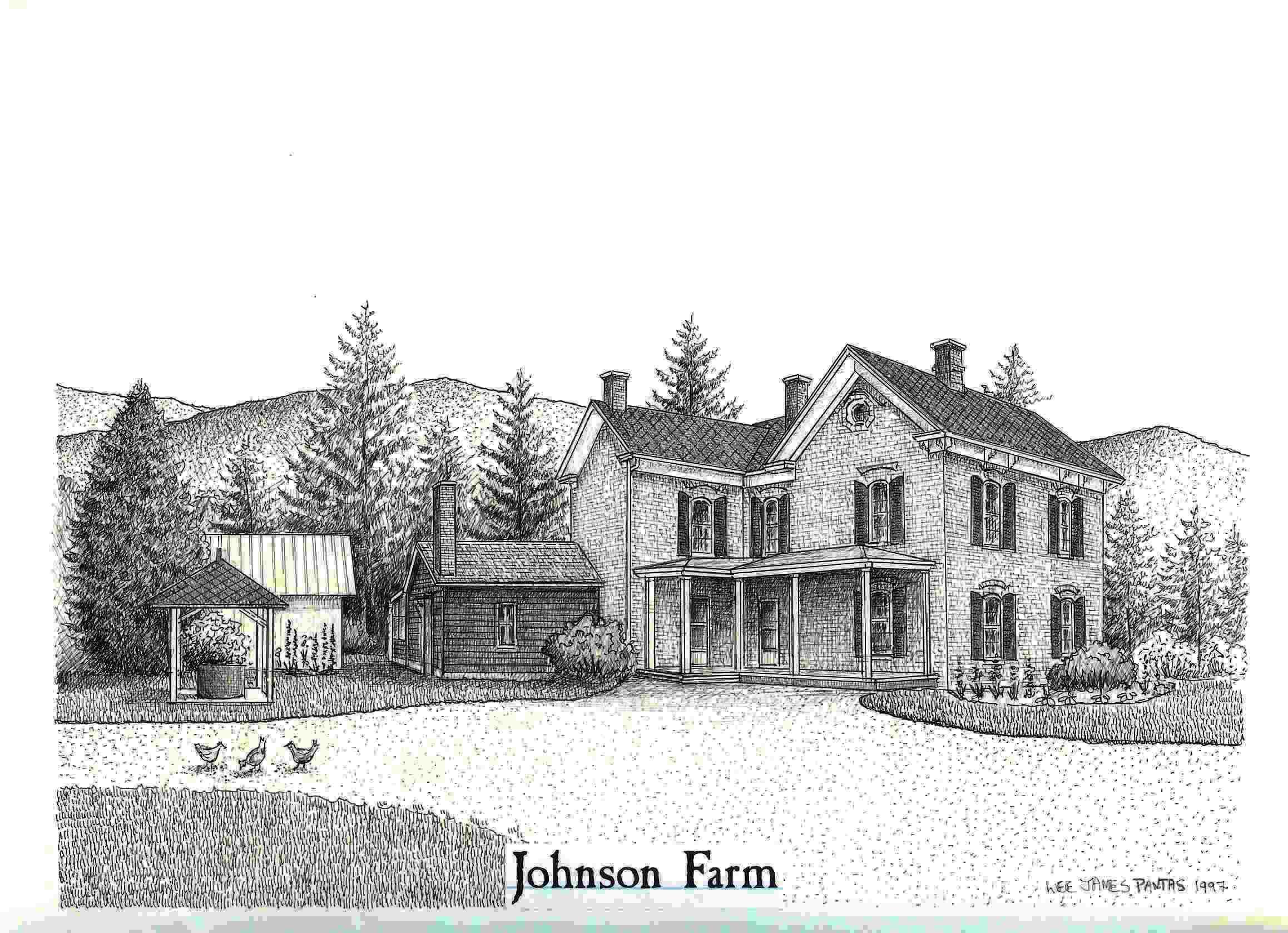 Farm Barn Drawing historic johnson farm